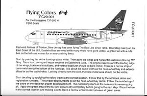 Flying Colors EASTWIND AIRLINES, The Bee Line, 737-200 Decals in 1/200 001