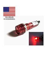 5 X 12v Red Led Indicator Pilot Signal Light 10mm 5 Piece Lot Usa Seller
