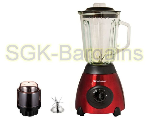 Red 500w Electric Multi Food Blender With Grinder Smoothie Processor Liquid