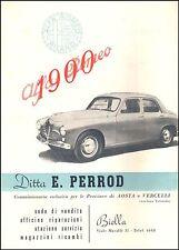 ALFA ROMEO 1900 AUTO LUSSO CONCESSIONARIO BIELLA AOSTA E. PERROD  1951