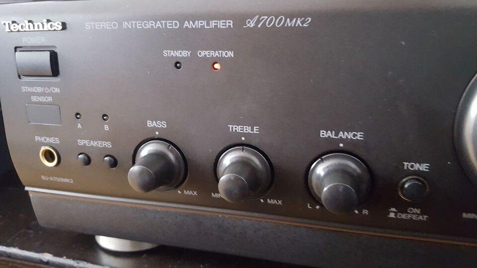 Stereoanlæg , Technics, A700mk2 /SL-PS770D
