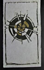 Marlene REIDEL (1923-2014) Landshut - SONNE - Handdruck mit Goldfarbe - 1962