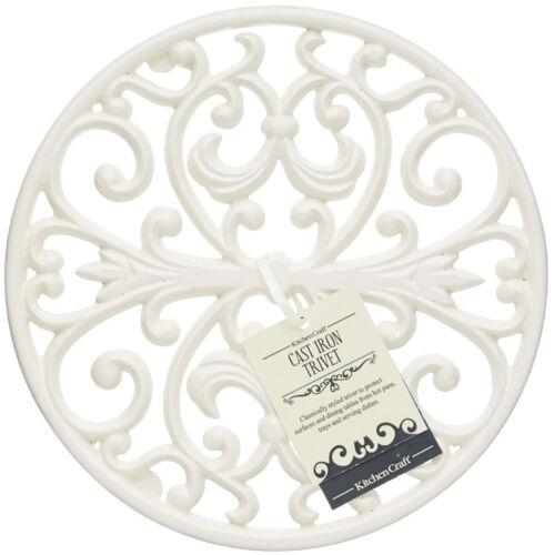 Kitchen Craft Cast Iron Round Cream Table Top Work Surface Pan Stand Trivet