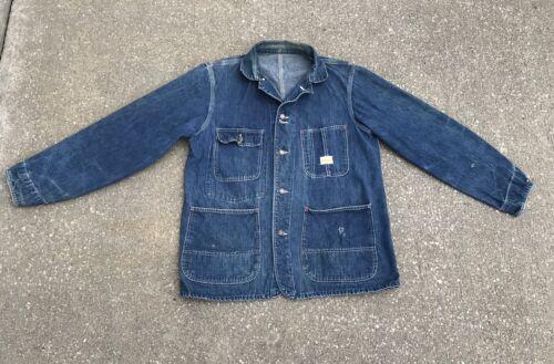 Vintage Penneys Payday Denim Chore Jacket Union Ma