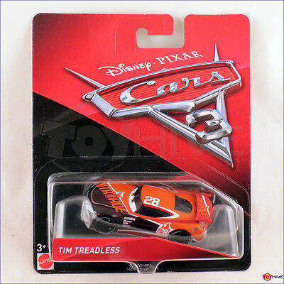 Disney Pixar Cars 3 Tim Treadless #28 2017 NEW