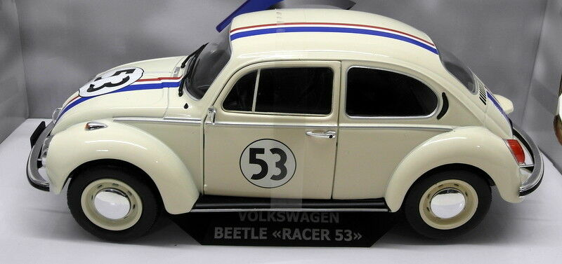 Solido 1 18 Scale Diecast - S1800505 VW Beetle Race  53 Herbie White Model Car