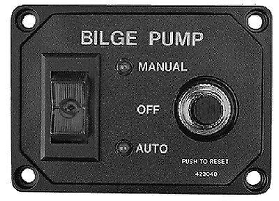 BILGE PUMP SWITCH PANEL W//BRKR Sea-Dog 354-4230401