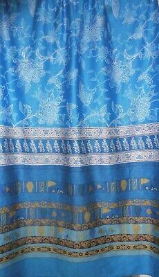 Foulard Stoff Fesa Streifen blau 280x100  NEU