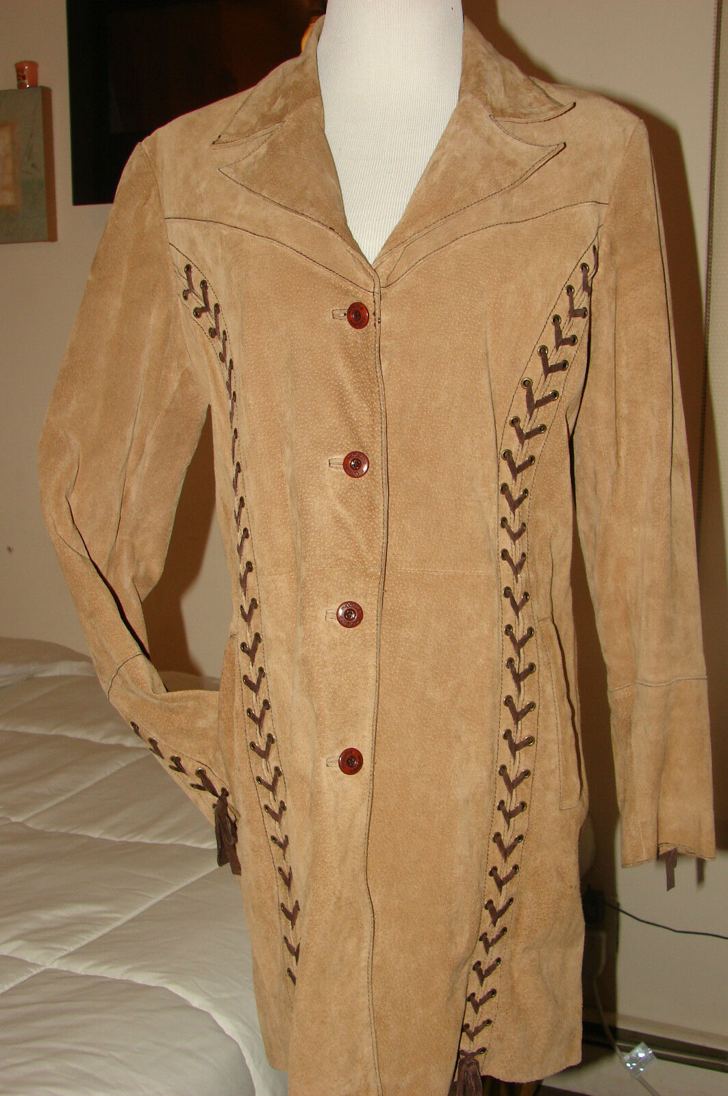 WILSON LEATHER MAXIMA COAT CHESTNUT WOMEN'S SZ LARGE PRE OWNED GREAT CONDITION