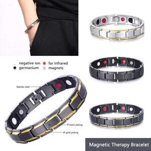 Bracciale-Uomo-magnetico-Titanio-Super-Forte-Terapia-Terapeutico-Braccialetto