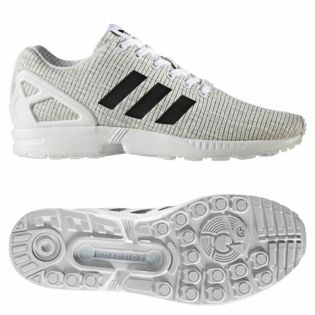 size 40 ffb03 aa007 adidas ZX Flux Originals Trainers Shoes BY9413 White Black Grey Zx750 700  850 UK 9.5