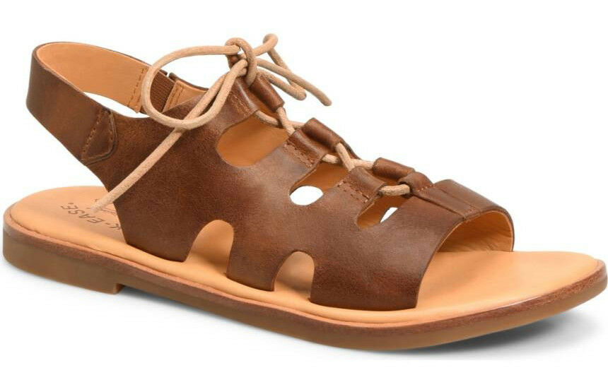 NIB  Kork -Ease donna Pearl Lace -up Flat Marronee Leather Sandal Dimensione US 9  EUR 40.5  profitto zero