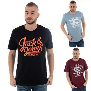 Jack-amp-Jones-Hombre-Camiseta-corta-Cuello-redondo-pico-OFERTA-polo
