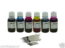 Refill Ink kit for HP 844 Star 845 moon cartridge BK C PC M PM Y 6x4oz/6s
