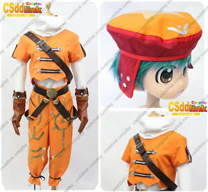 Kite From Hack Cosplay Costume Orange Outfit With Hat Mm02 Ebay