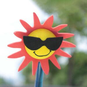 Funny-Sun-Flower-Car-Antenna-Aerial-Ball-EVA-Topper-Truck-SUV-Pen-Decor-GifQ6Q