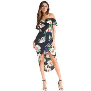 Women-Sexy-Summer-Dress-Chiffon-Flower-Off-Shoulder-Boho-Maxi-Beach-Dress