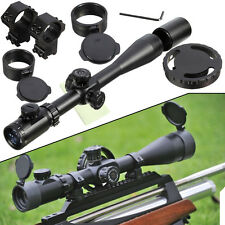ZOS 10-40x50 Rifle Scope Réticule lumineux Portée Top Quality+11mm Montures