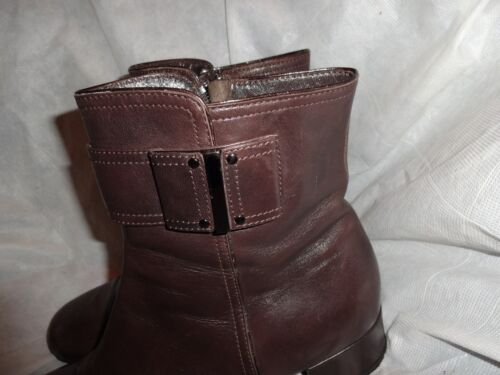 Women Size Leather Boot Uk Kocal Eu Brown On Ankle 5 5 Vgc 6 Zip 39 qYnpd40xd