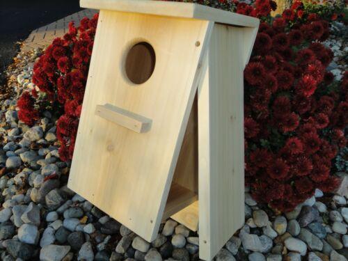 Four nest boxes Kestrel Nest Box Screech Owl Cedar