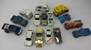 Vintage-decada-de-1980-Lote-De-Autos-Hot-Wheels-diecast-camion-de-helados-camiones-Jeep-VW