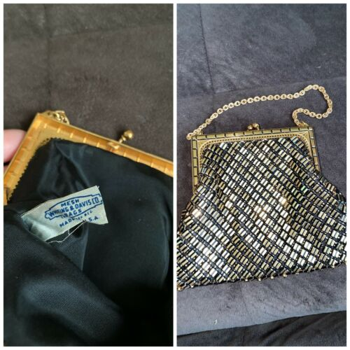 antique whiting and davis purse
