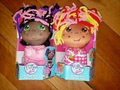 Flip Zee Girls Zandy Candy Plush Doll Flipzee Girl Doll Flip Bonnet and Bundle