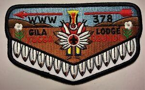 OLD-GILA-OA-LODGE-378-BSA-YUCCA-COUNCIL-TEXAS-TX-66-78-DANCER-1986-F-7-FLAP-MINT