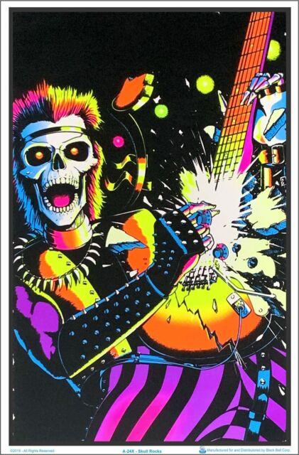 "Misfits Nightmare Fiend Blacklight Poster Flocked 23/"" x 35/"""