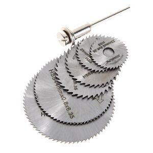 7X-Rotary-Cutter-Mini-HSS-Circular-Saw-Disc-Blades-Mandrel-fr-Hobby-Drill-Sliver
