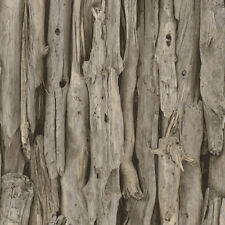 RASCH DRIFT WOOD LOGS PATTERN REALISTIC PHOTO FAUX EFFECT WALLPAPER