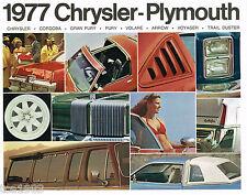 1977 PLYMOUTH Brochure/Catalog: TRAIL DUSTER,ARROW,CORDOBA,FURY,VOLARE,VOYAGER,