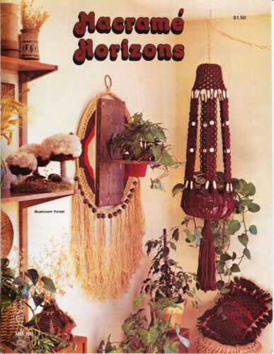 #1927 Macrame Horizons Home Decor Patterns Craft Books