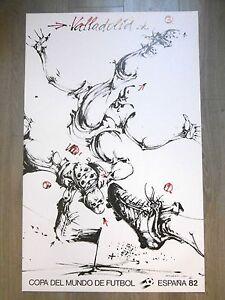VELICKOVIC-Affiche-originale-VALLADOLID-COPA-DEL-MUNDO-FUTBOL-Espana-82-SPORT