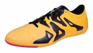 Adidas-X-15-3-en-cuir-indoor-Football-Baskets-Pour-Homme-Orange-Futsal-Football-Chaussures