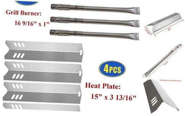 DGF493BNP Set of 4 Barbeque Grill Heat Tent Plates for Backyard Grill Replacement Parts BY15-101-001-02 BY13-101-001-13 GBC1460W. Grill Heat Shields Replacment Parts for Dyna-Glo DGF510SBP