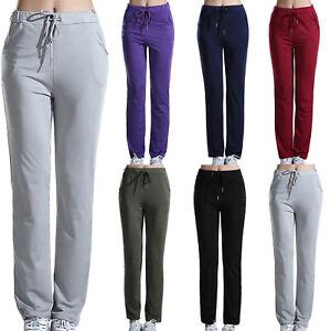 Damen-Freizeithose-Jogginghose-Sportswear-Yoga-Sports-Hose-Sporthose-Sweatpants