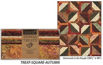 Quilt Kit Autumn Diamond Leaves//Batiks