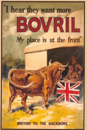 Bovril 36J The New Nostalgia Series Postcard WW1 Advertising Recruiting Poster