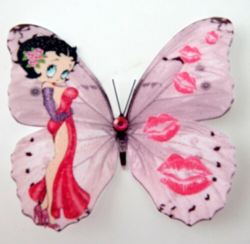 3 Betty Boop rose 3D Hollywood Cartoon Film Stars Betty Boop Accessoires Chambre
