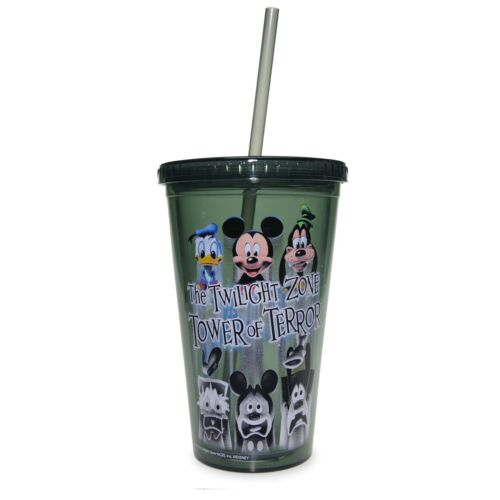 Disney Parks  The Twilight Zone Tower of Terror Tumbler with Straw Drink Cup