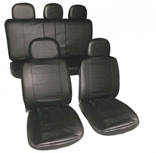 FULL LEATHER LOOK CAR SEAT COVER SET BLACK 10-13 TOYOTA LAND CRUISER