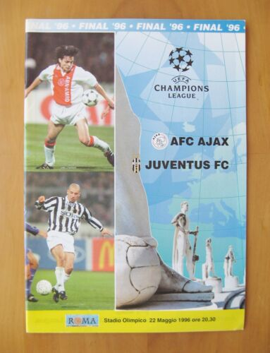 1996 Champions League Final AJAX v JUVENTUS Exc Condition Football Programme