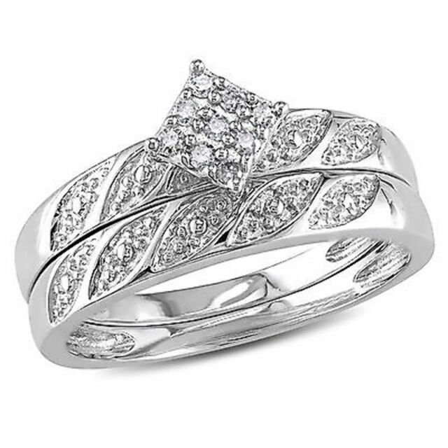 1//10 cttw, G-H,I2-I3 Size-10.25 Diamond Wedding Band in Sterling Silver