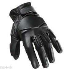 SWAT Tactical LEATHER Gloves Paintball Airsoft Shooting (Black) Medium [FC3]