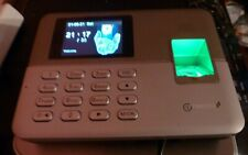Timedox Silver D Biometric Fingerprint Time Clock Employees New Open Read Below