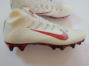 8b107dd8c Nike Men s Vapor Untouchable 2 TB Football Cleats White Red Jewels ...