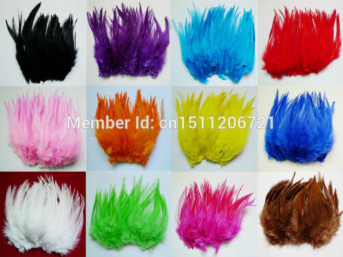 Beautiful Rooster Feathers For Wedding Millinery Card Art Craft// Wedding Decor
