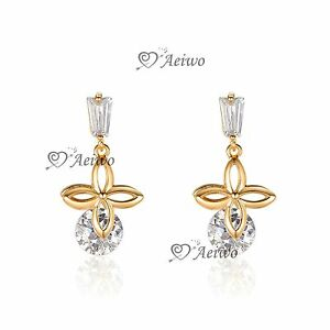 18K-WHITE-YELLOW-ROSE-GOLD-FILLED-STUD-MADE-WITH-SWAROVSKI-CRYSTAL-EARRINGS-CUTE