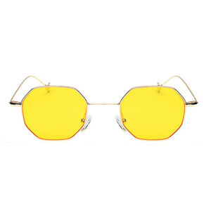Unisex Octagonal Sunglasses HD Flat Lenses Eyewear UV400 Lightweight Glasses